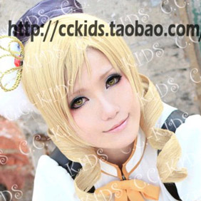Blonde PUELLA MAGI MADOKA Long Wavy Nylon Cosplay Wig