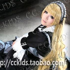 Blonde 1Gosick  detective story Long Wavy Nylon Cosplay Wig