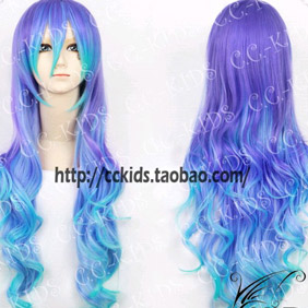 Pink VOCALOID Megurine Luka Long Wavy Nylon Cosplay Wig