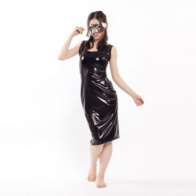 通気 柔らかい セクシー ブラック メタリック チャイナ風 ドレス 全身タイツ