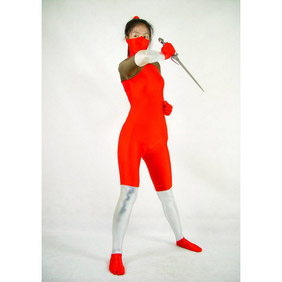 Sexy Mixed Color Lycra NINJA   Zentai Suit