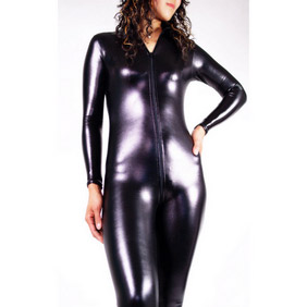 Black PVC Zentai Suit