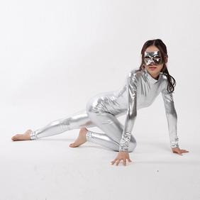 Silver PVC Zentai Suit