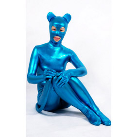 Metallic Cat Woman Costume Zentai Suit