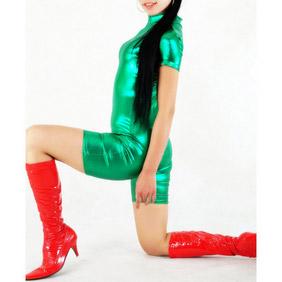 Green Metallic Zentai Suit