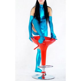 Metallic Shiny Metallic Blue Unisex Zentai Suit