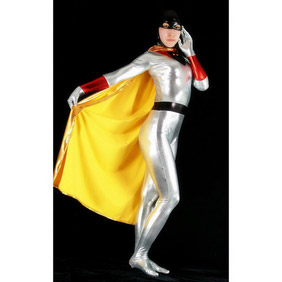 Silver Metallic Superman Costume  Zentai Suit