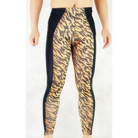 Leopard Metallic Spandex Jupon Zentai Suit