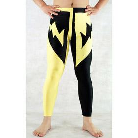 Black&Yellow PVC Spandex Jupon   Zentai Suit