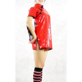 Chinese Red PVC  Zentai Suit