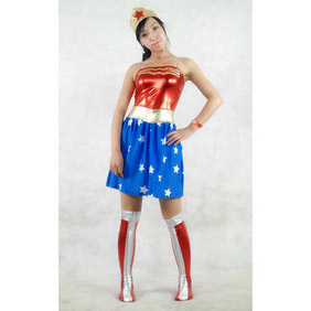 PVC Breathable Skirt Mixed Color Zentai Suit