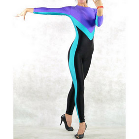 Sexy Mixed Color Lycra Spandex Zentai Suit
