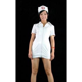 SexyWhite LycraSexy Nurse Costume  Zentai Suit