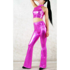 Sexy Purple PVC Breathable Zentai Suit