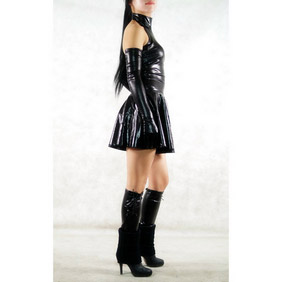 PVC Black Skirt Halloween  Zentai Suit