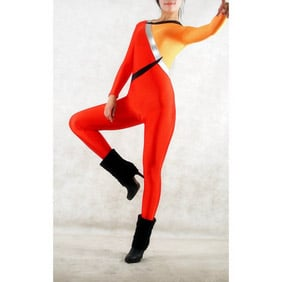 Sexy Red&Yellow Lycra Breathable Zentai Suit