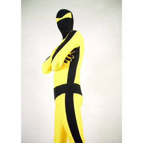 Sexy Yellow&Black Lycra Zentai Suit