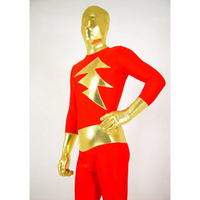 Metallic Red&Golden Zentai Suit