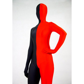 Sexy Black&Red Lycra Spandex Zentai Suit
