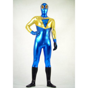 Metallic Golden&Blue  Zentai Suit