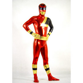 Metallic Red Party Costume Zentai Suit