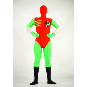 Sexy Red Green Lycra  Zentai Suit