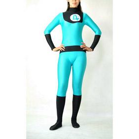 Sexy Blue Lycra Spandex Ranger Zentai Suit