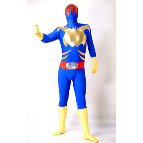 Sexy Mixed Color Lycra Spandex Ranger Zentai Suit