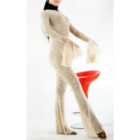 Carnation Leopard Velours  Costume  Zentai Suit