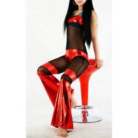 Metallic Red&Black Zentai Suit