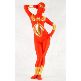 Sexy Red Lycra Female Spider Costume Zentai Suit