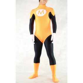 Sexy Orange Lycra Party Costume Zentai Suit