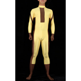 Sexy Yellow Lycra Party Costume Zentai Suit