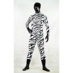 Sexy Zebra Lycra Ranger Zentai Suit