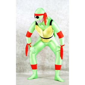 Sexy Green Lycra Spandex Ninjia  Zentai Suit