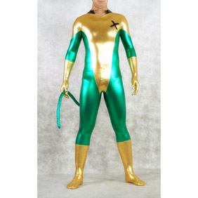 Metallic Green&Golden Zentai Suit