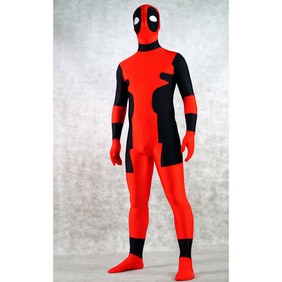 Sexy Red&Black Lycra Spandex  Zentai Suit