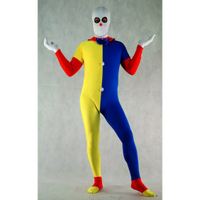 Sexy Blue&Yellow Lycra Spandex   Zentai Suit