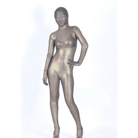 Gray Velours Zentai Suit