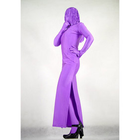 Sexy Purple Lycra Spandex Female Zentai Suit