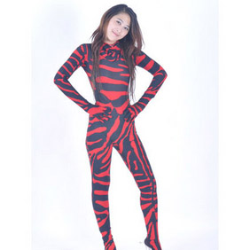 Sexy Mixed Color Lycra   Zentai Suit