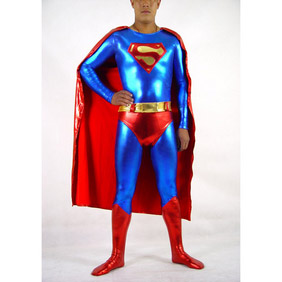 Metallic Blue&Red Spandex Superman Costume Zentai Suit