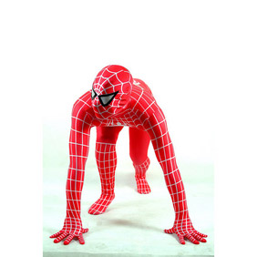 Metallic Red Spiderman Costume Zentai Suit
