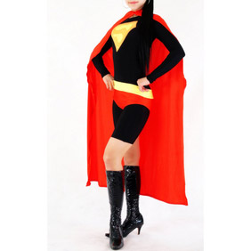 Sexy Lycra Black&Red  Female Superman Costume Zentai Suit
