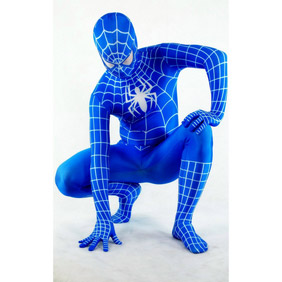 Sexy Lycra Blue Spiderman Costume Zentai Suit