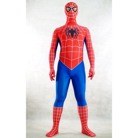 Sexy Lycra Red&Blue Spiderman Costume Zentai Suit