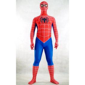 Sexy Lycra Red&Blue Spiderman Costume  Zentai Suit