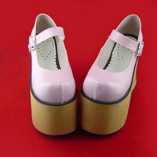 可愛い ピンク 12cm 合皮 ゴム底 ロリィタ/ロリータ靴