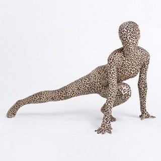 Sexy Leopard Lycra Spandex Breathable Zentai Suit
