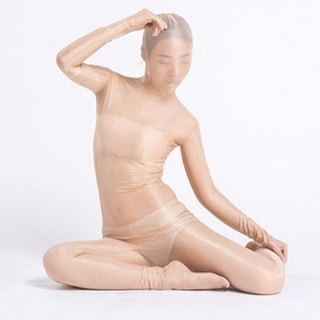 Sexy White  Lycra Breathable Whole Body Zentai Suit